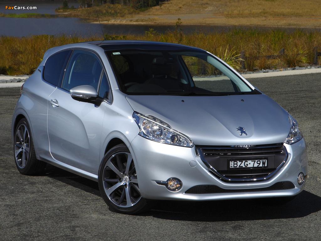 Pictures of Peugeot 208 3-door AU-spec 2012 (1024 x 768)