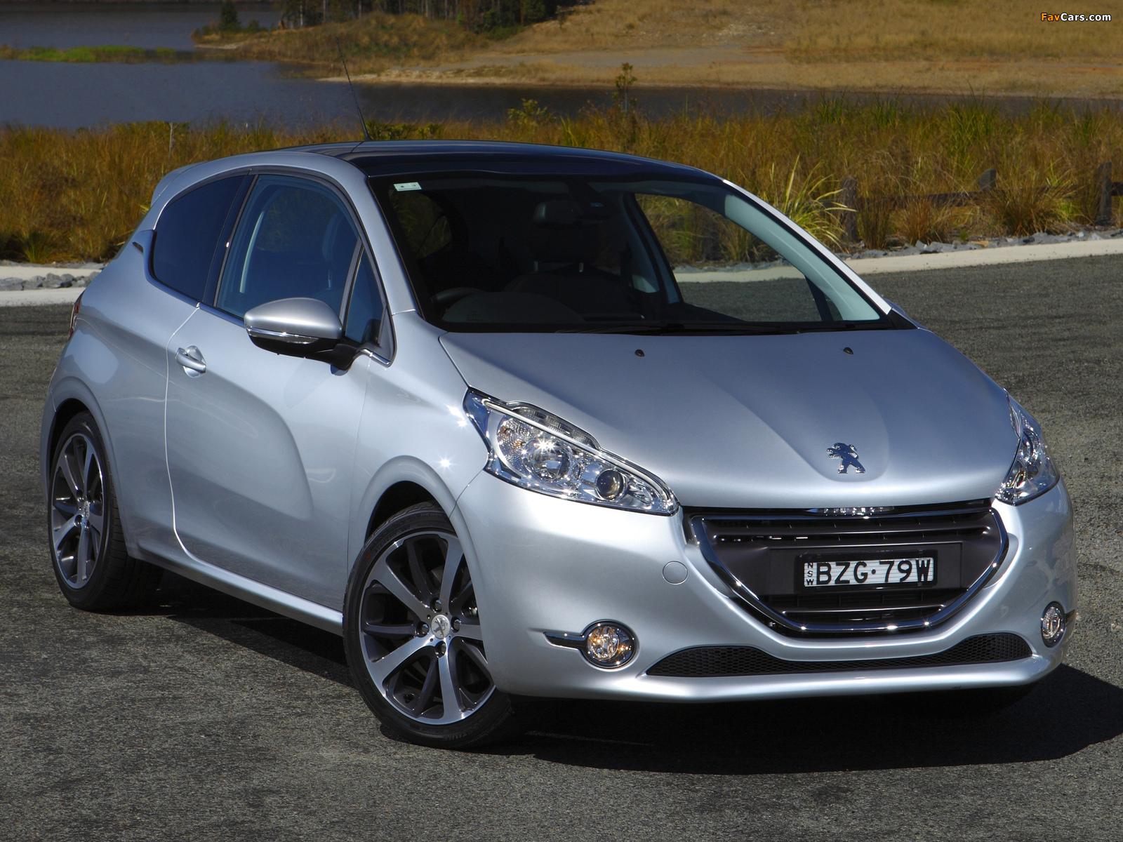 Pictures of Peugeot 208 3-door AU-spec 2012 (1600 x 1200)