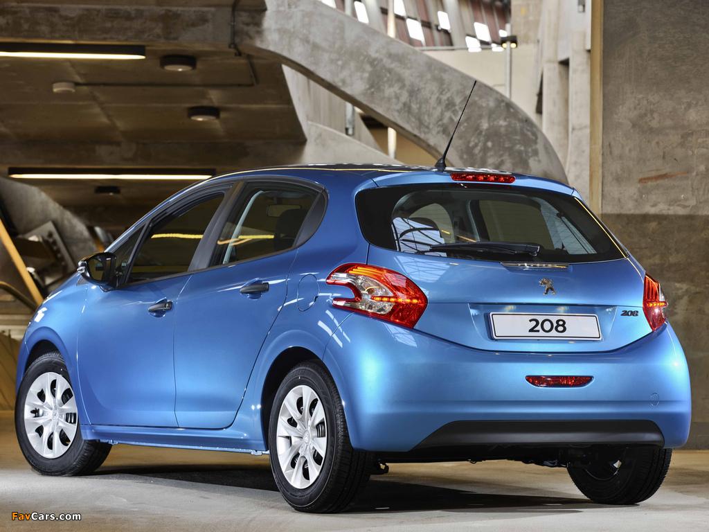 Peugeot 208 5-door ZA-spec 2012 wallpapers (1024 x 768)