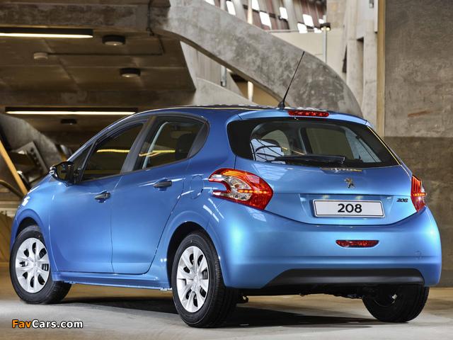 Peugeot 208 5-door ZA-spec 2012 wallpapers (640 x 480)