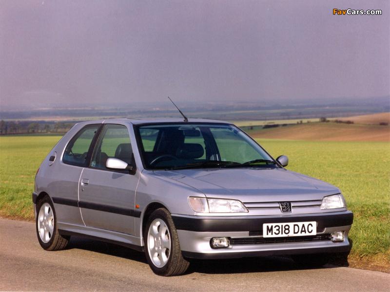 Images of Peugeot 306 S16 UK-spec 1993–97 (800 x 600)