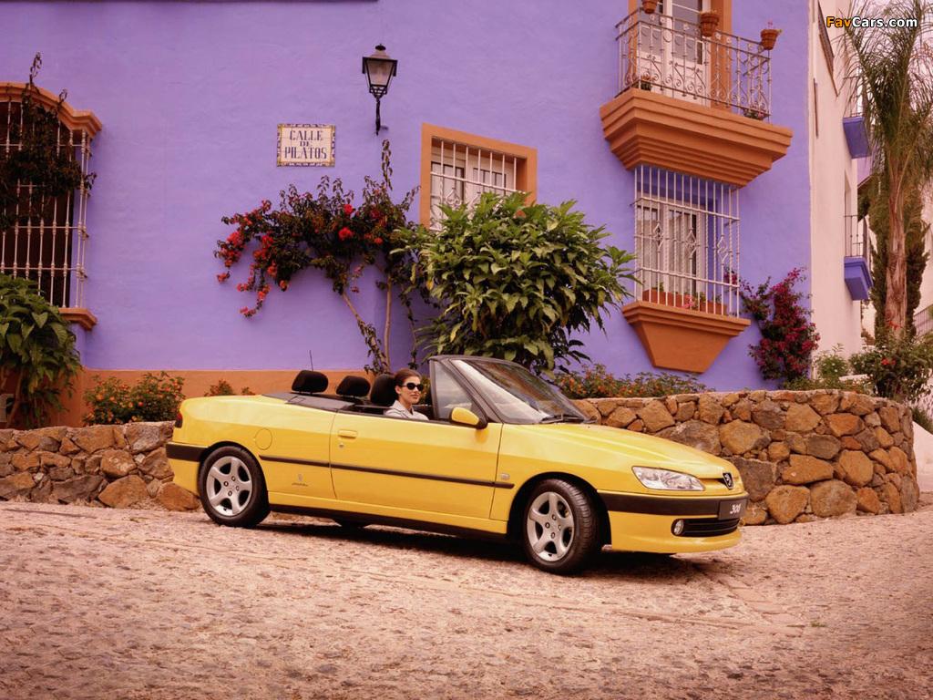 Peugeot 306 Cabriolet 1997–2002 images (1024 x 768)