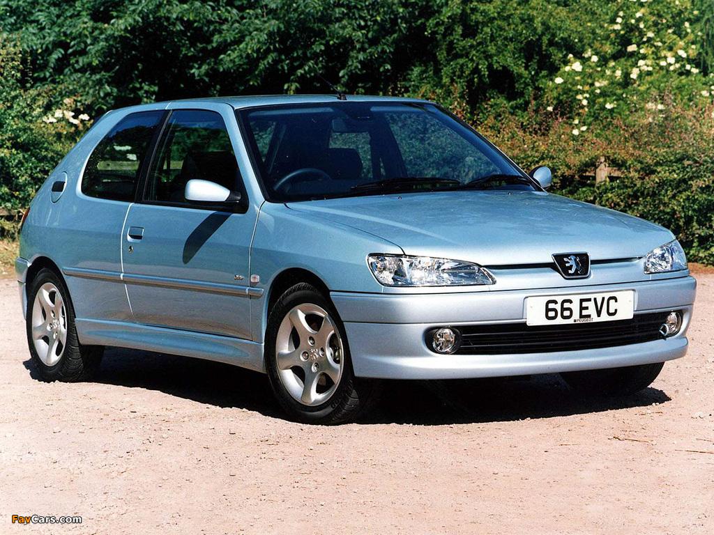 Peugeot 306 3-door UK-spec 1997–2002 wallpapers (1024 x 768)