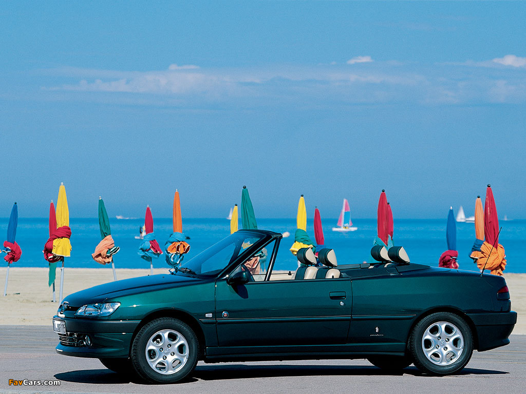Peugeot 306 Cabriolet 1997–2002 wallpapers (1024 x 768)