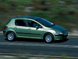 Peugeot 307 5-door 2001–05 photos
