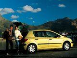 Peugeot 307 5-door 2001–05 pictures