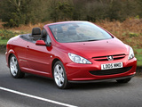 Peugeot 307 CC UK-spec 2003–05 photos