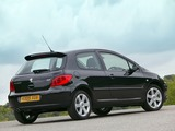 Peugeot 307 3-door UK-spec 2005–08 wallpapers
