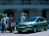 Peugeot 307 5-door 2001–05 wallpapers