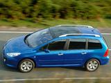 Peugeot 307 SW UK-spec 2005–08 wallpapers