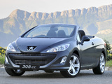 Peugeot 308 CC ZA-spec 2009–11 photos