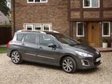 Peugeot 308 SW UK-spec 2011–14 images