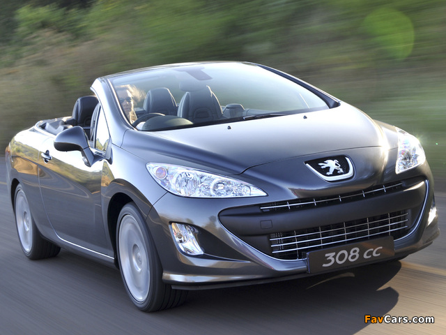 Pictures of Peugeot 308 CC ZA-spec 2009–11 (640 x 480)