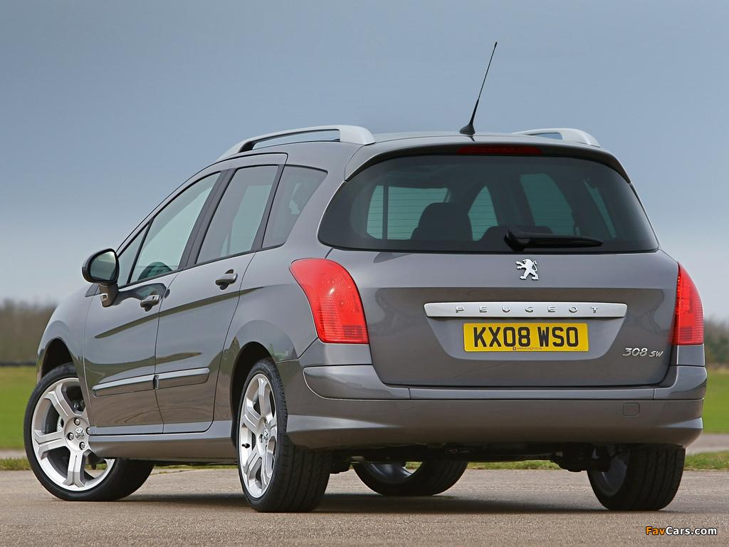 Peugeot 308 Sw Uk Spec 2008 11 Wallpapers 1024x768