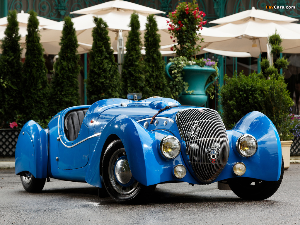 Peugeot 402 Darlmat Special Sport Roadster 1937–38 wallpapers (1024 x 768)