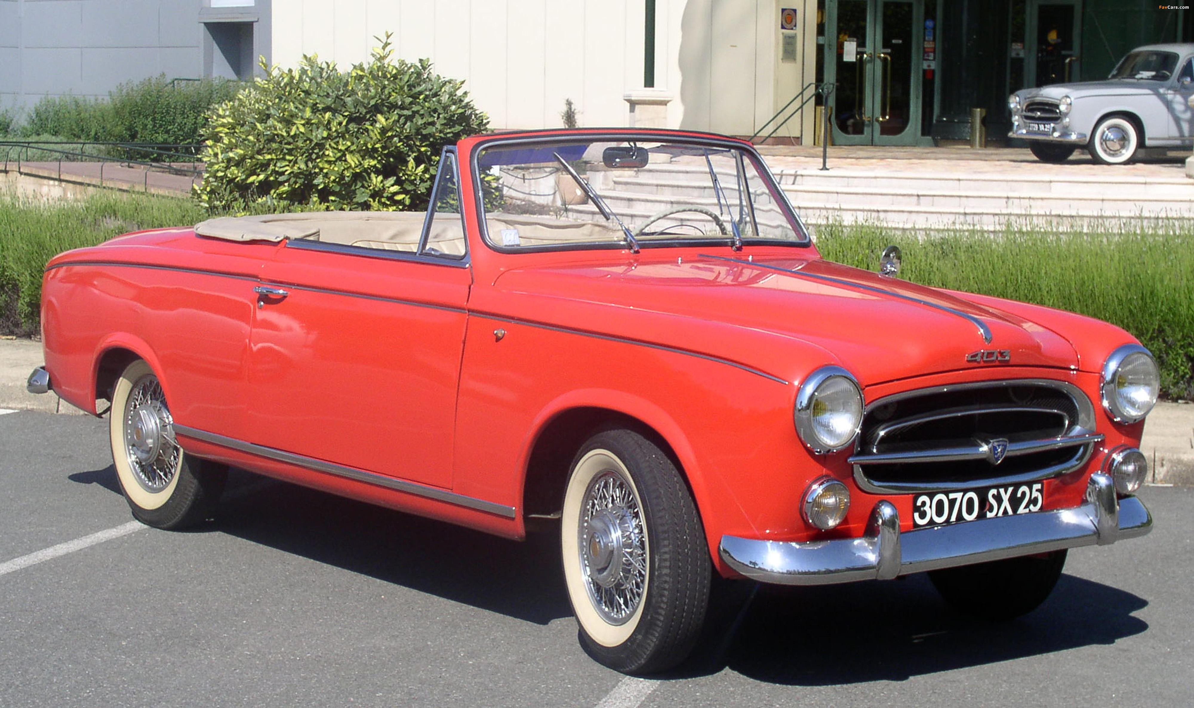 Gemeinsame Peugeot 403 Cabrio 1956–61 pictures (4000x2370) #GC_43