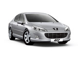 Pictures of Peugeot 407 Sedan Black & Silver 2009