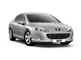 Pictures of Peugeot 407 Sedan Black & Silver 2009
