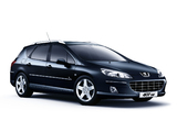Peugeot 407 SW Black & Silver 2009 wallpapers