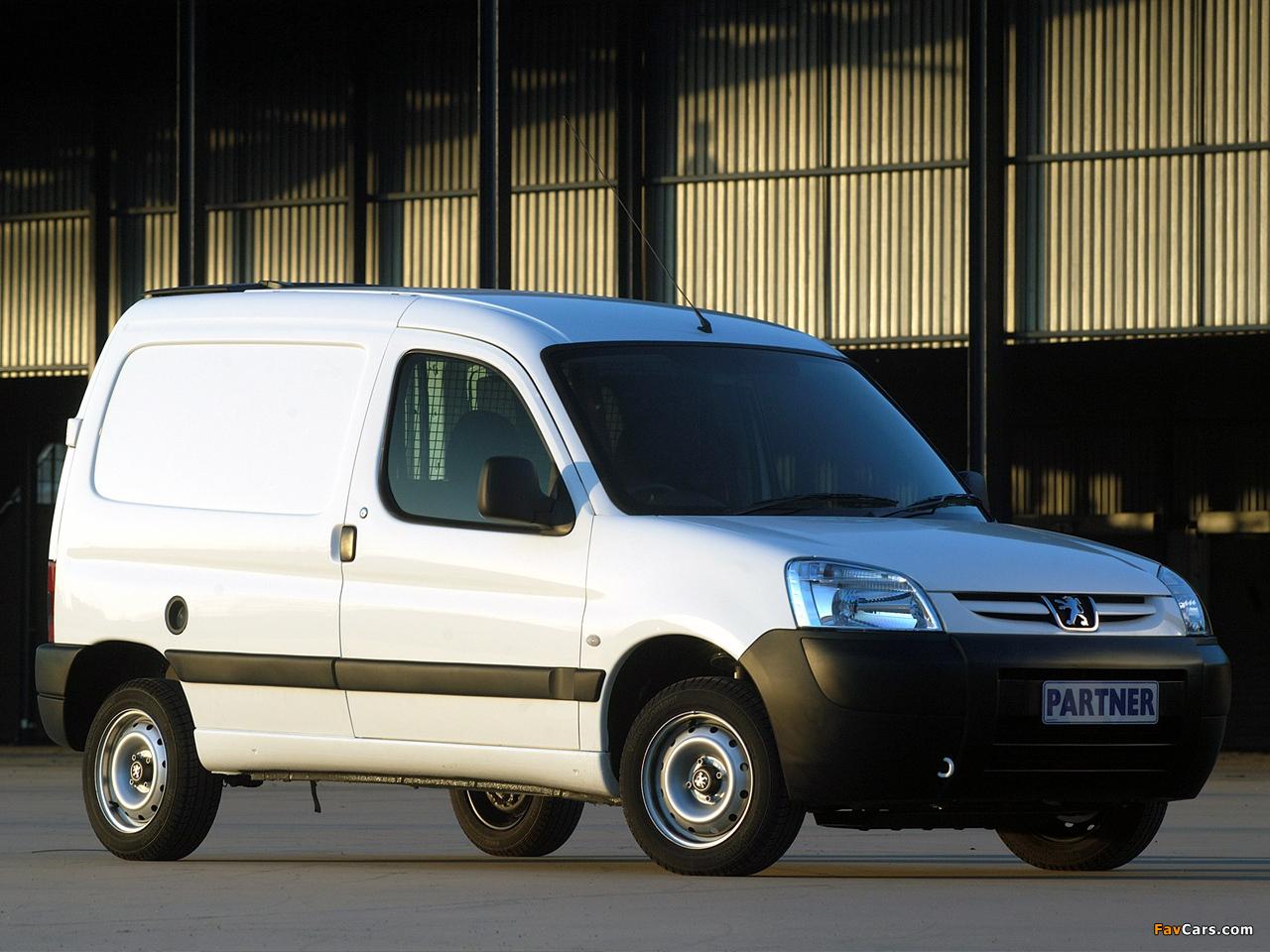 Peugeot Partner Van ZA-spec 2002–08 images (1280 x 960)