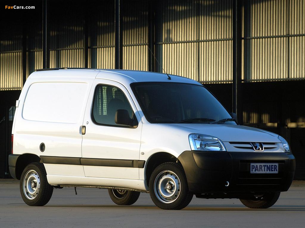 Peugeot Partner Van ZA-spec 2002–08 images (1024 x 768)