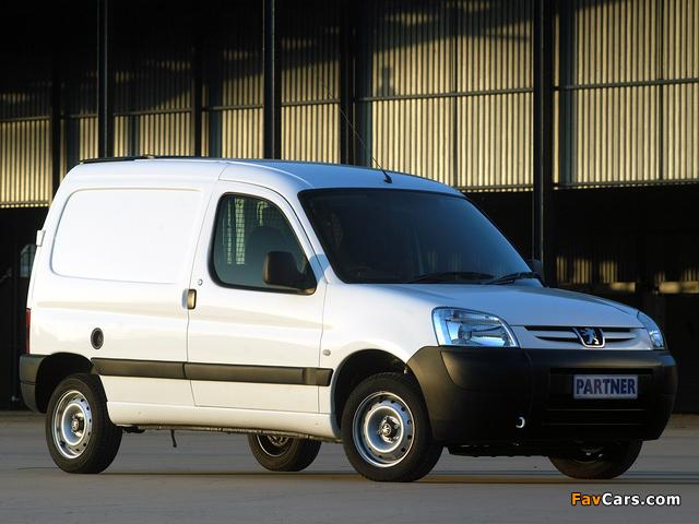 Peugeot Partner Van ZA-spec 2002–08 images (640 x 480)