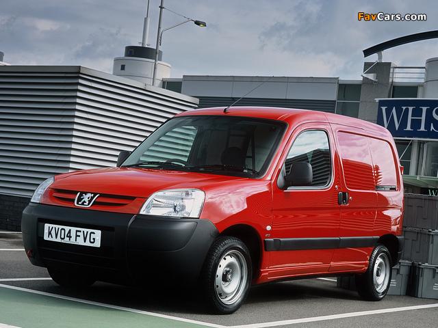 Peugeot Partner Van UK-spec 2002–08 photos (640 x 480)
