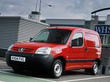 Peugeot Partner Van UK-spec 2002–08 photos