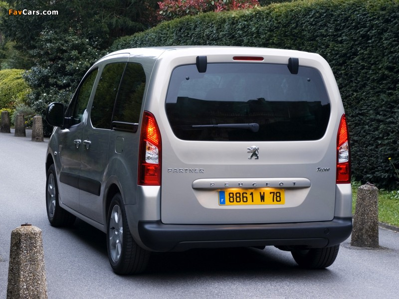 Peugeot Partner Tepee 2008–12 images (800 x 600)