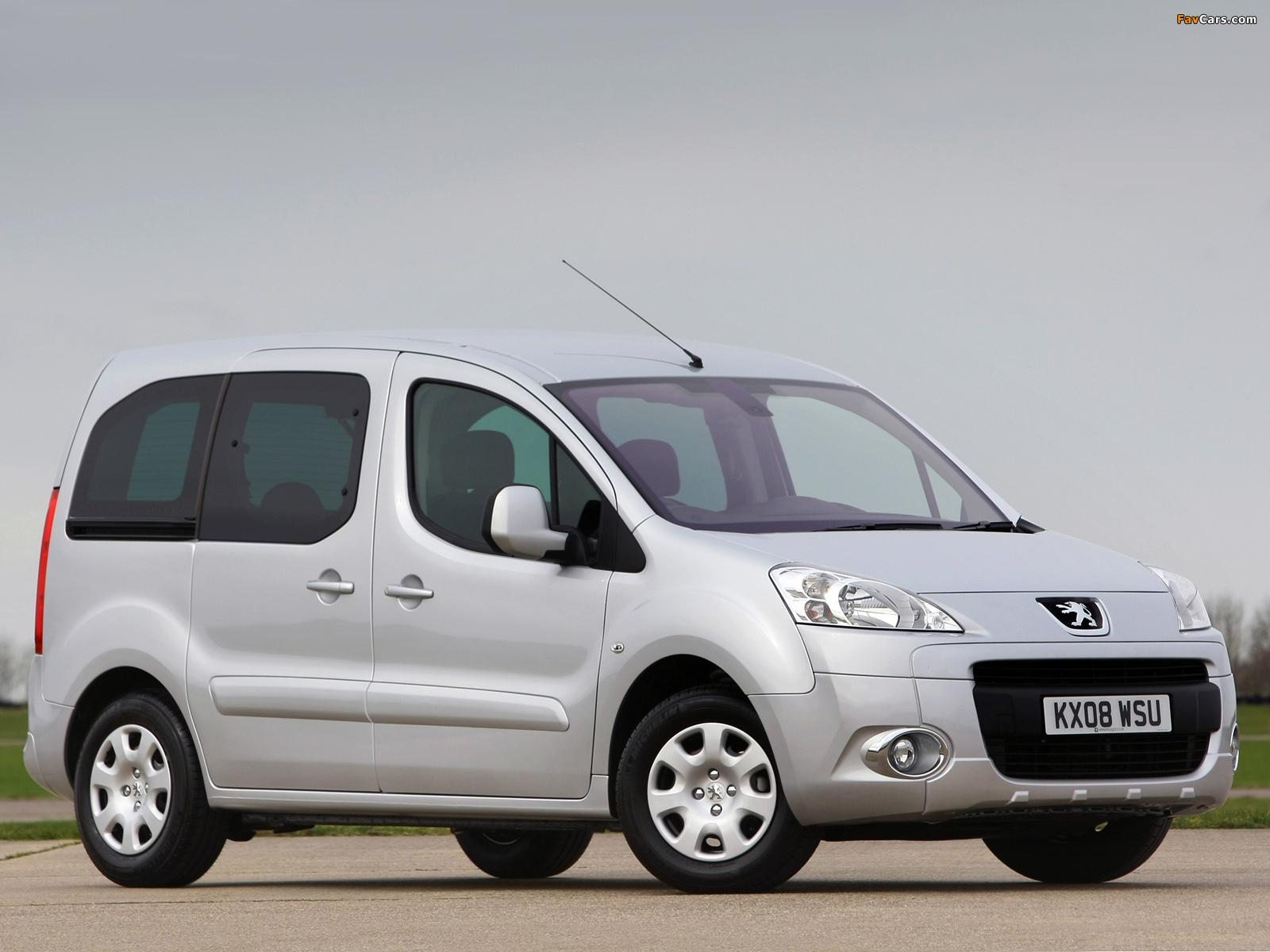 Peugeot Partner Tepee UK-spec 2008–12 photos (1600 x 1200)