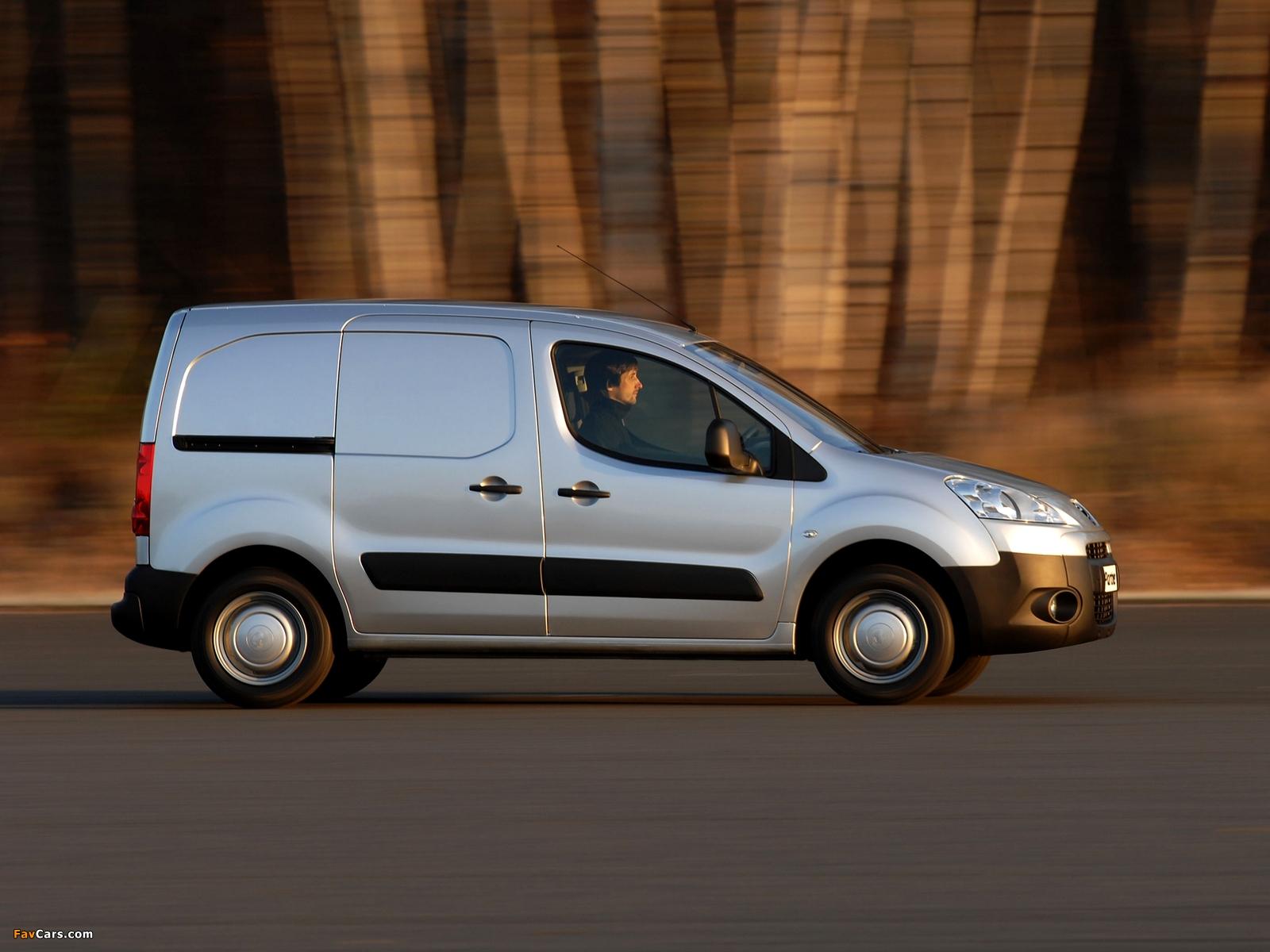 Peugeot Partner Van 2008–12 photos (1600 x 1200)