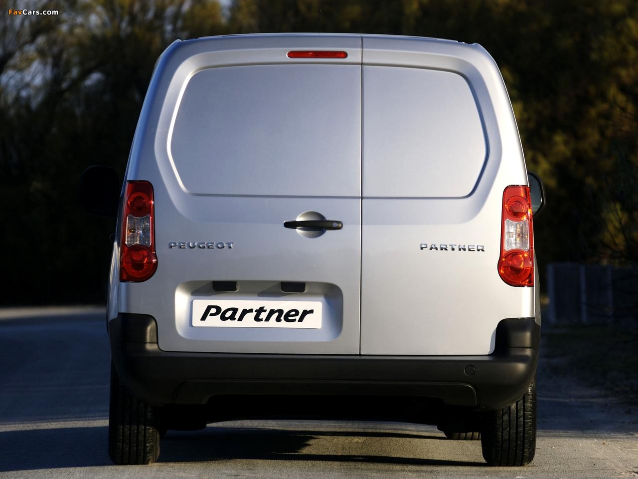 Peugeot Partner Van 2008–12 pictures (1280 x 960)