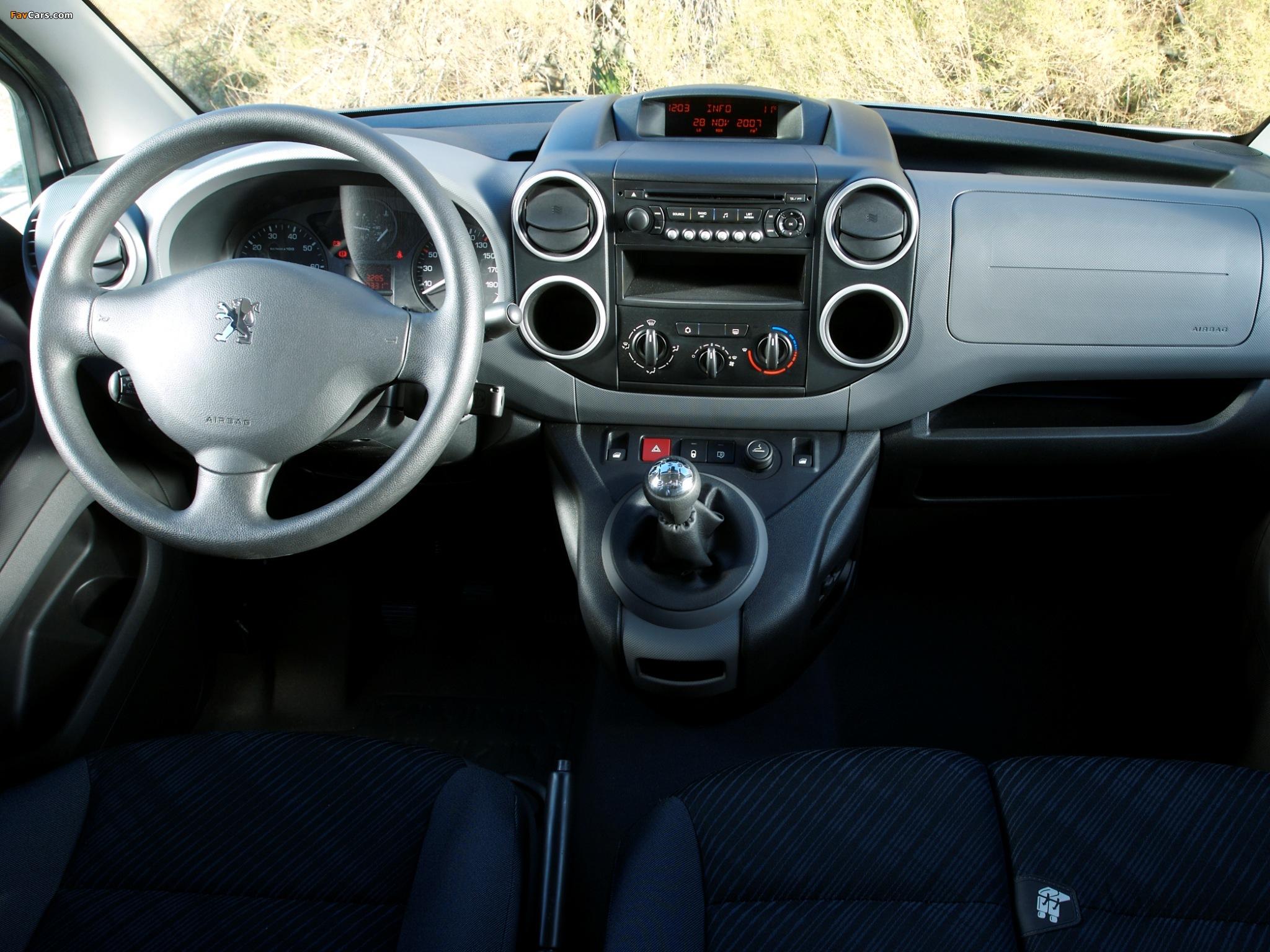 Peugeot Partner Van 2008–12 wallpapers (2048 x 1536)