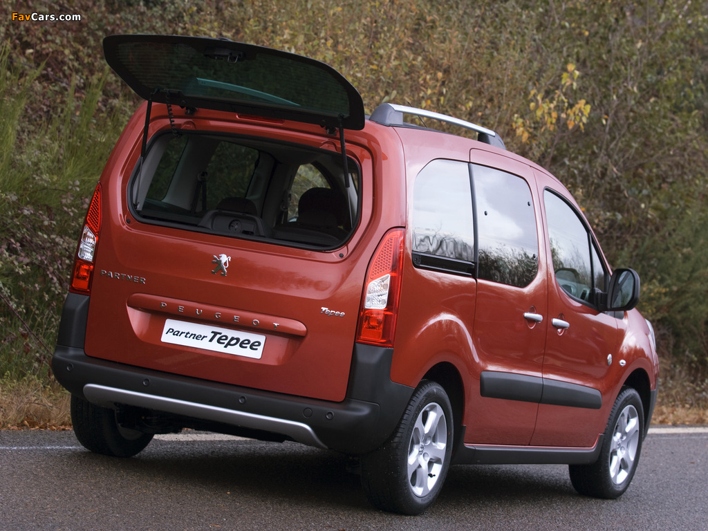Peugeot Partner Tepee Outdoor Pack 2010 pictures (1024 x 768)