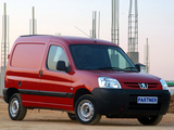 Photos of Peugeot Partner Van ZA-spec 2002–08