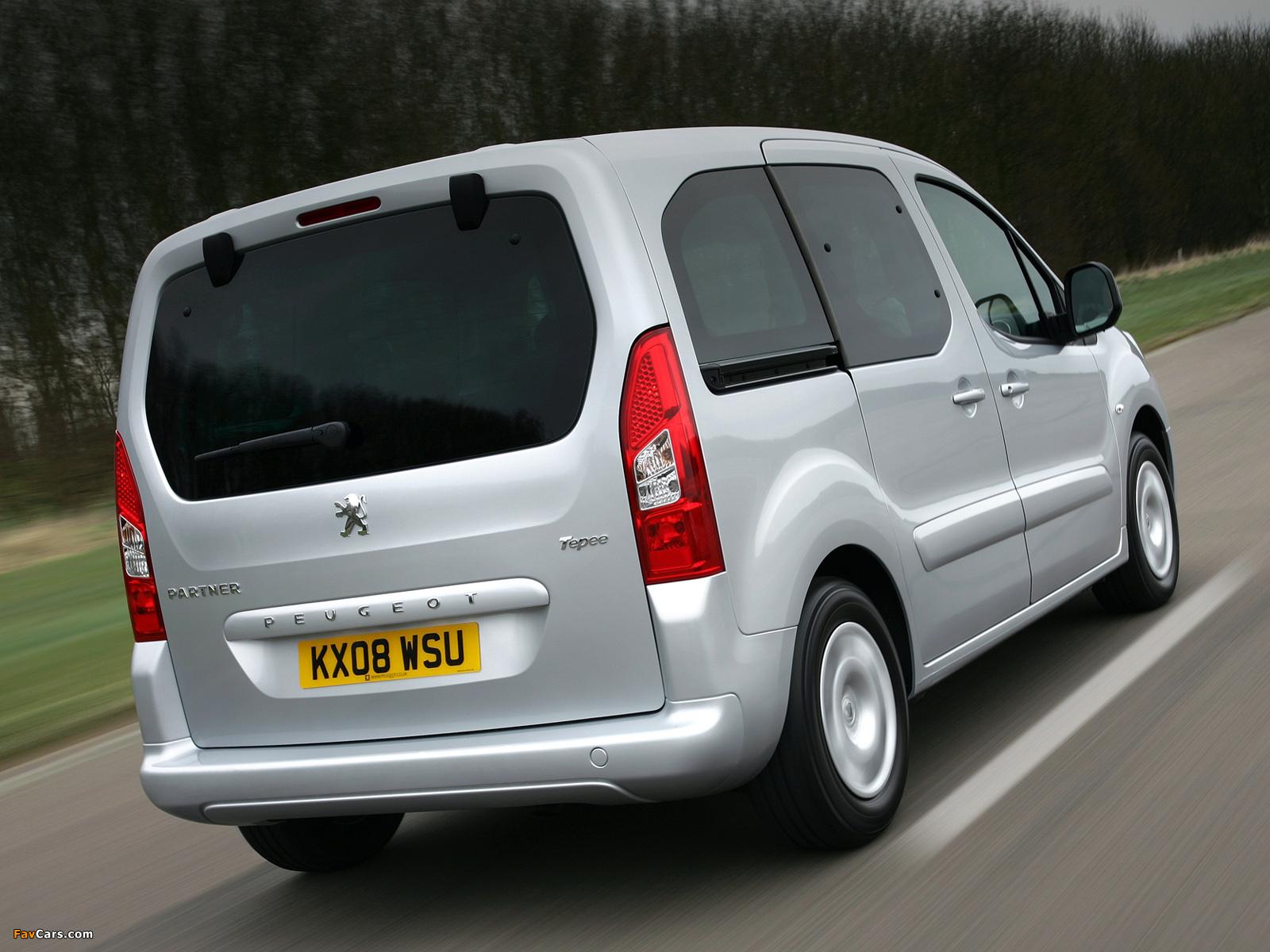 Pictures of Peugeot Partner Tepee UK-spec 2008–12 (1600 x 1200)