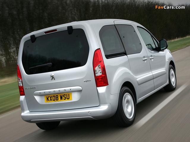 Pictures of Peugeot Partner Tepee UK-spec 2008–12 (640 x 480)