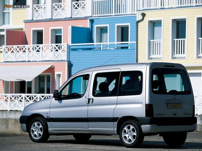 Peugeot Partner 1996–2002 wallpapers (800 x 600)