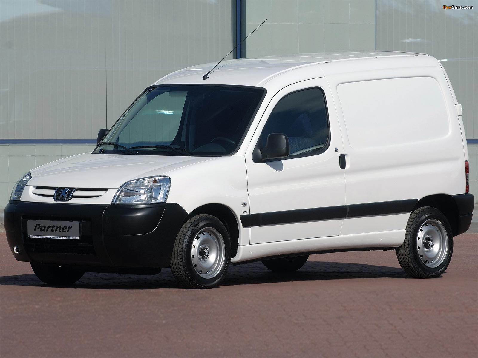 Peugeot Partner Van 2002–08 wallpapers (1600 x 1200)