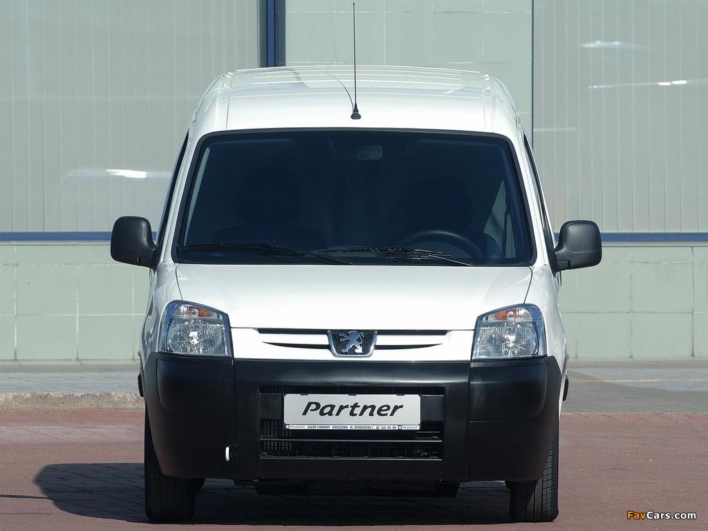 Peugeot Partner Van 2002–08 wallpapers (1024 x 768)