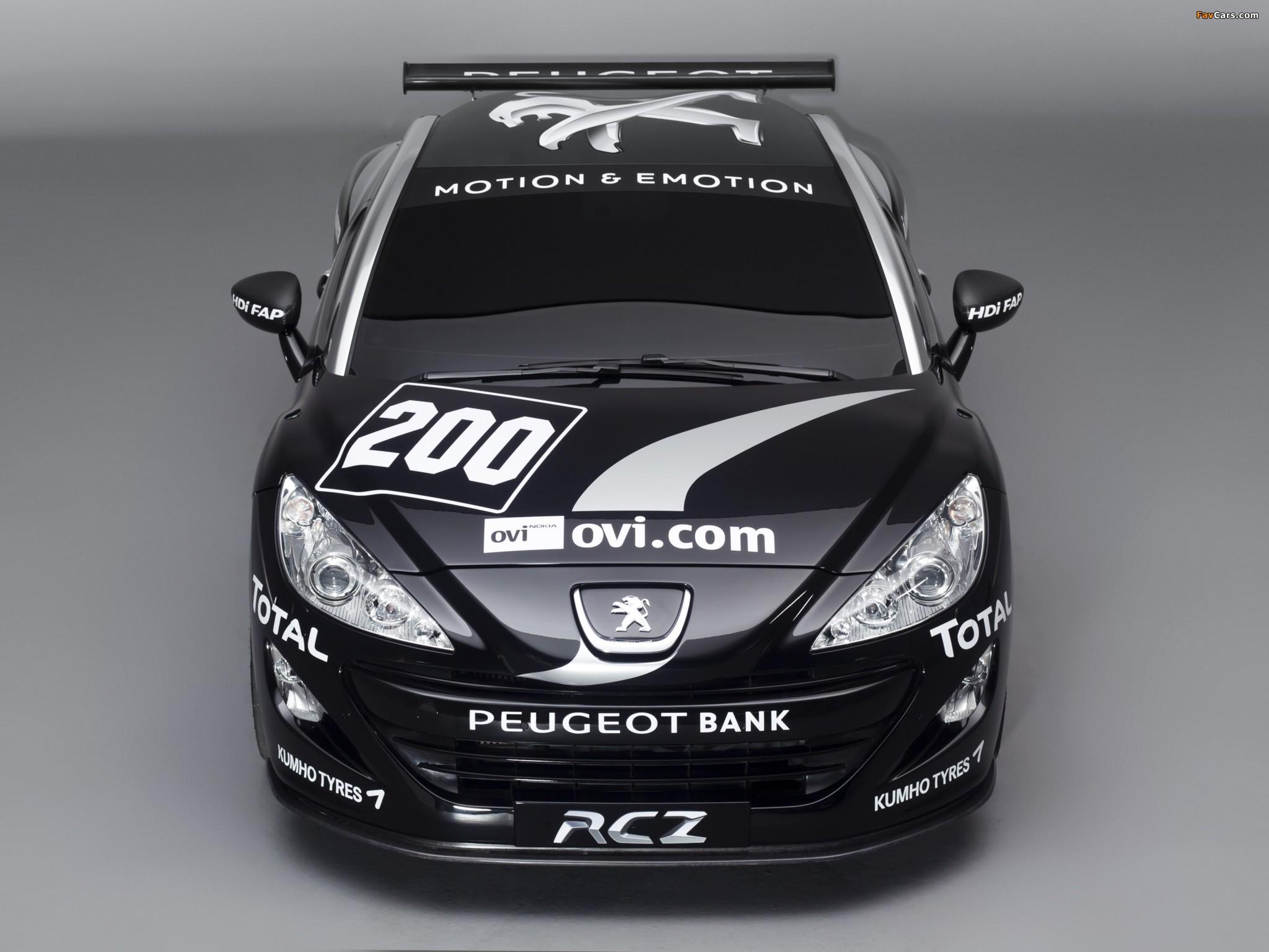 Peugeot RCZ Race Car 200ANS 2010 images (2048 x 1536)