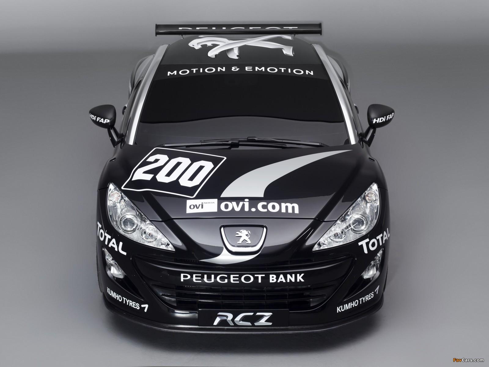 Peugeot RCZ Race Car 200ANS 2010 images (1600 x 1200)
