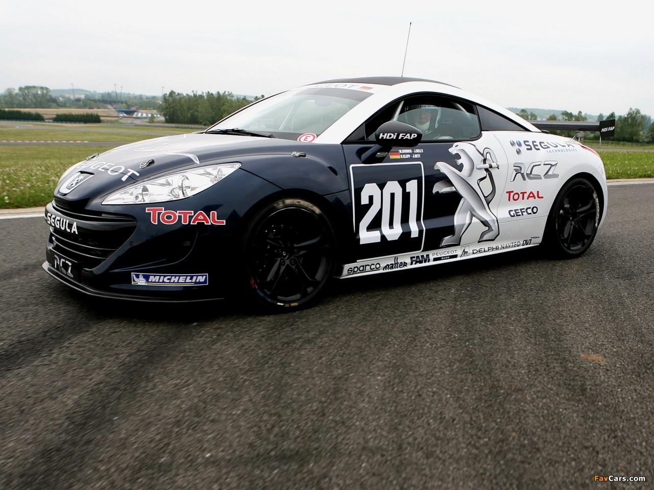 Peugeot RCZ Race Car 200ANS 2010 photos (1280 x 960)