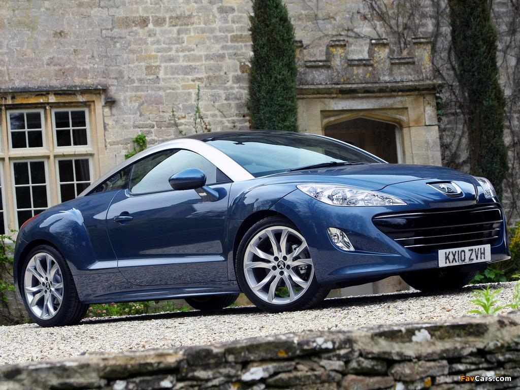 Peugeot RCZ UK-spec 2010 pictures (1024 x 768)