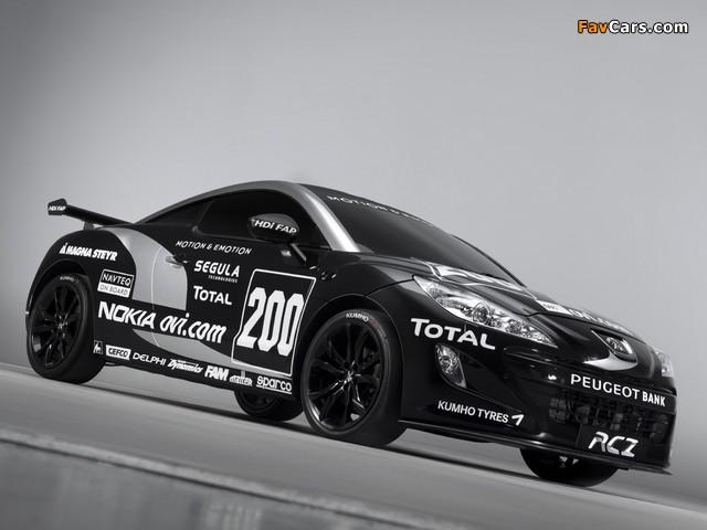 Peugeot RCZ Race Car 200ANS 2010 wallpapers (640 x 480)