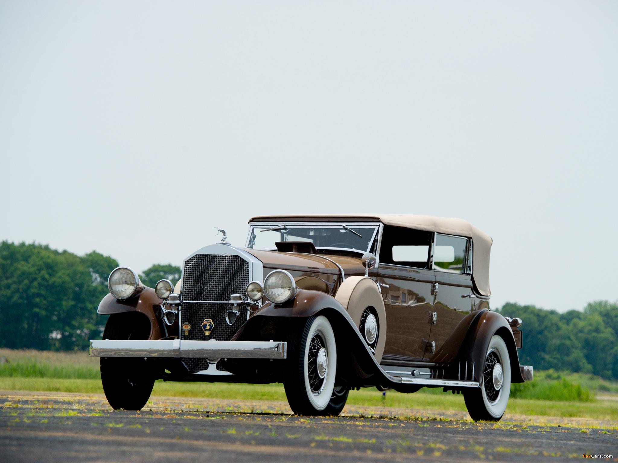 Pierce-Arrow Model 54 Convertible Sedan 1932 wallpapers (2048 x 1536)