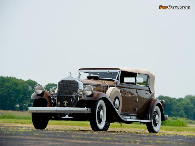 Pierce-Arrow Model 54 Convertible Sedan 1932 wallpapers (640 x 480)