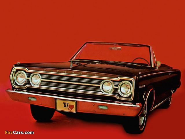 Plymouth Belvedere ll Convertible (CR1/2-H RH27) 1967 wallpapers (640 x 480)