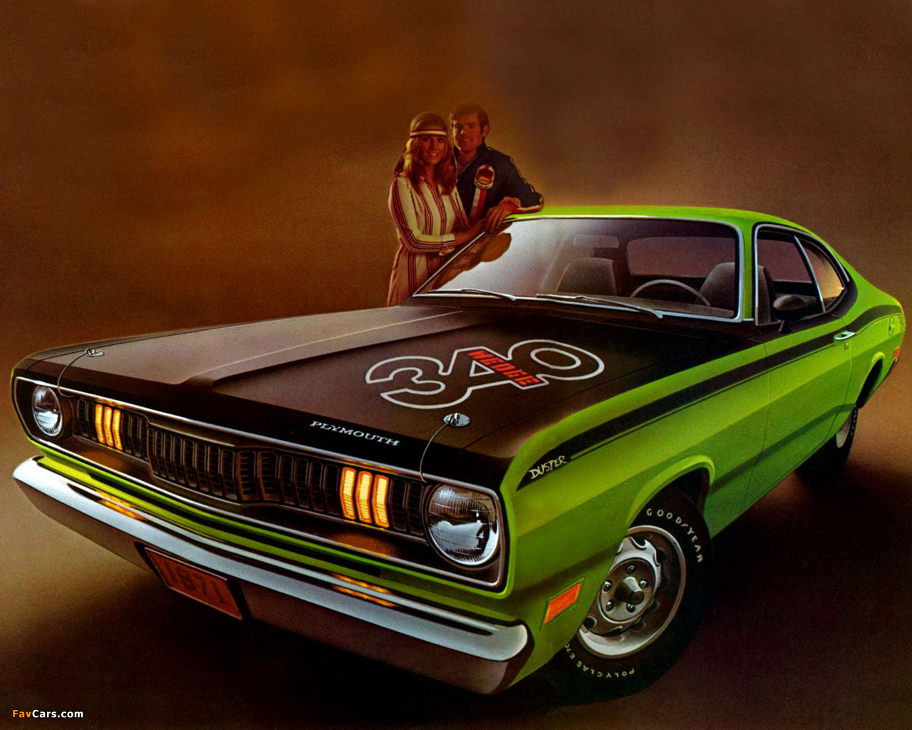 plymouth duster 340 1971 wallpapers 1280x1024. Black Bedroom Furniture Sets. Home Design Ideas