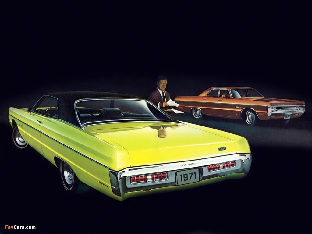 Photos of Plymouth Fury III 2-door Formal Hardtop & Fury III 4-door Sedan 1971 (1024 x 768)